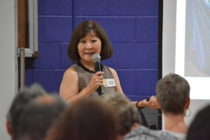 Marsha Aizumi recently spoke in Denver about her incredible personal family journey.  Photo: Gil Asakawa