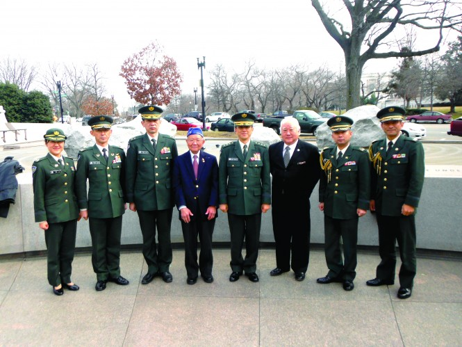 Japanese Army General Visits National Japanese American Memorial to Patriotism