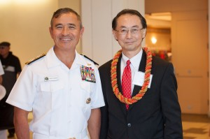 Adm. Harris (left) with JACL National President David Lin. Photo by Johnny Phayakoun