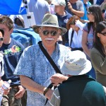 Mas Okui is pictured at the 43rd Annual Manzanar Pilgrimage on April 28, 2012. Photo by Mark Kirchner, Manzanar Committee