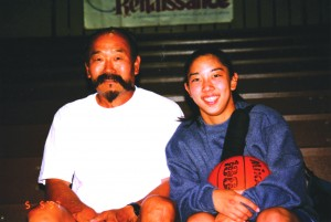 Playing basketball allowed Nakase to bond with her father, Gary, whom she counts as one of the people she admires most in her life.
