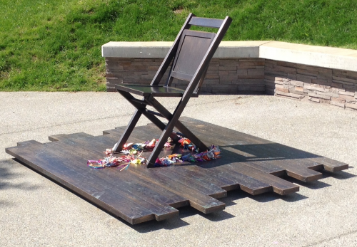 The Empty Chair Memorial Moves Community Members at Unveiling