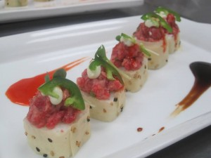 Plated sushi created at the Sushi Chef Institute.