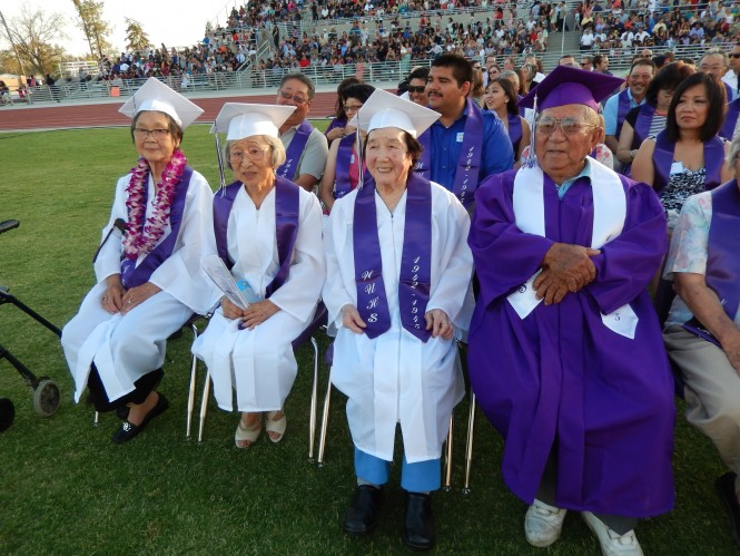 Washington Union High School Awards Honorary Diplomas to Nisei Students