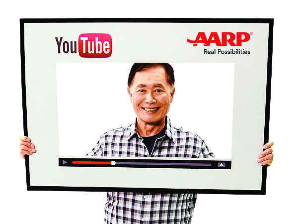 """George Takei hosts """"Takei's Take,"""" an award-winning series on YouTube that looks at the Internet and technology through the eyes of a senior. Photo by AARP"""