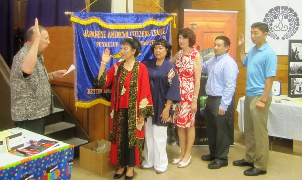 JACL Puyallup Chapter Swears in New Board of Officers